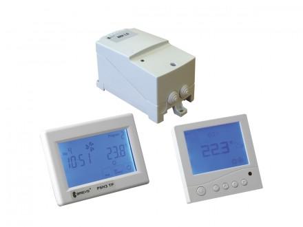System regulatorów programowalnych sterowanych sygnałem 230V AC